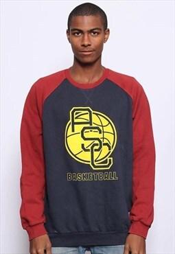 Vintage Adidas Big Logo Sweatshirt Blue