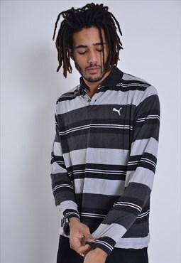 Vintage Puma Rugby Shirt Jersey Black