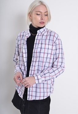 Vintage Tommy Hilfiger Long Sleeve Check Shirt White