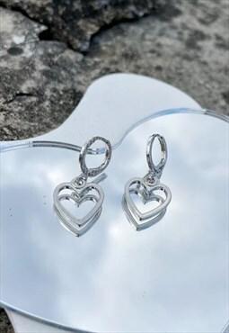 Heart Drop Mini Earrings