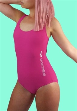 H2O Vintage 90's  Swimsuit One-piece Halterback in Pink