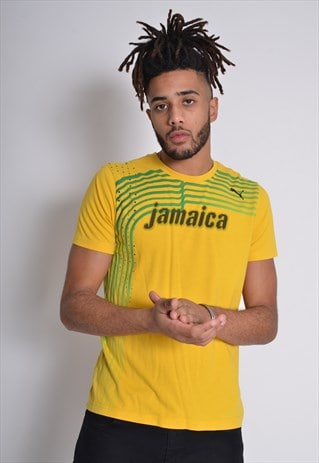 Vintage Puma Jamaica T-Shirt Yellow