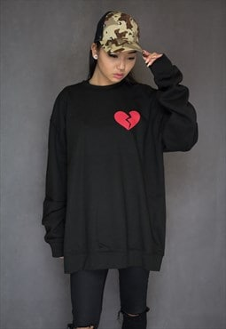 NEW IN - Heartbreaker Oversized Black Jumper