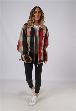 Vintage Replay Wool Jacket Oversized Checked UK 20 (9XAD)
