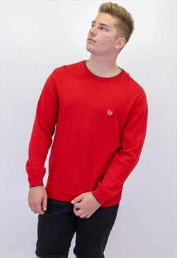 Vintage Chaps Sweater in Red