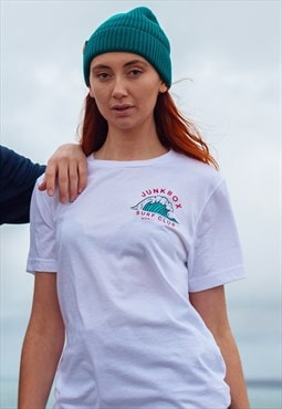 Short-sleeved Tshirt White Surf Club colour graphic print