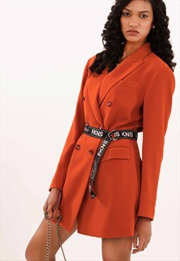 FKNS Rust Blazer Dress