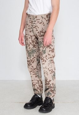 Vintage Brown Camouflage Trousers Bottoms