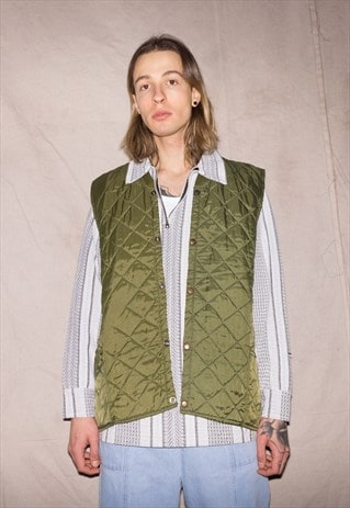 90S  RICH KID QUILTED ENGLISH UNISEX SHINY GILET