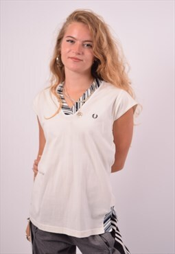 Vintage Fred Perry T-Shirt Top White