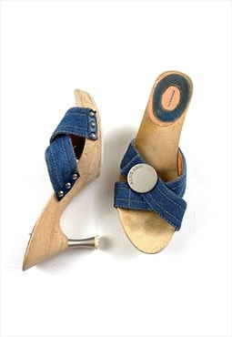 Y2K Miss Sixty Denim Mules