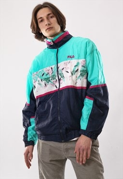 90's Vintage Mens FILA Logo Track Suit Windbreaker Jacket
