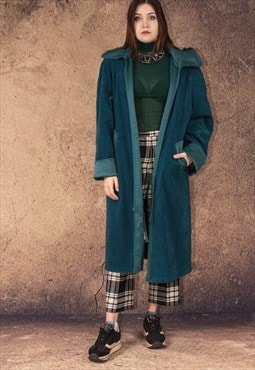 Teal Color 90s quality Vintage Womens Coat