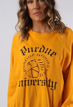 Sweatshirt Jumper Oversized UNIVERSITY Print UK 18 (KI5A)