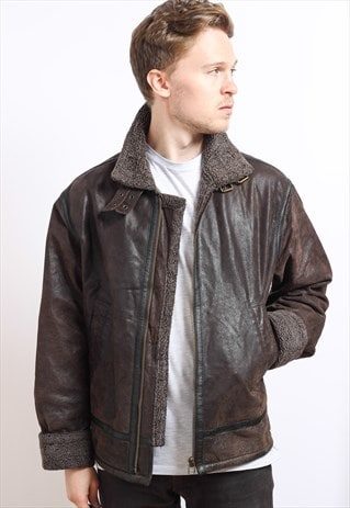 VINTAGE LEATHER SHEEPSKIN JACKET