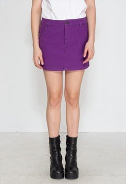Vintage Purple DIESEL Denim Mini Skirt