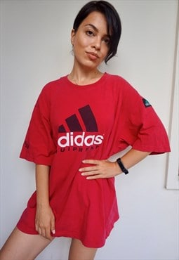 Vintage Huge Logo Red Tee