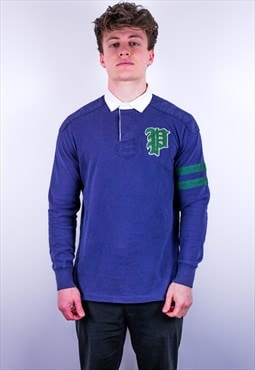 Vintage Ralph Lauren Rugby Polo Shirt in Blue
