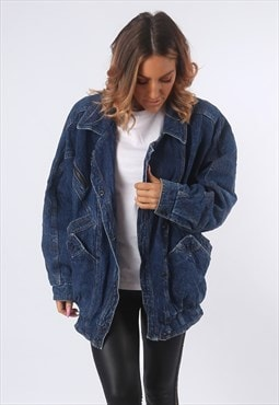 Denim Jacket Lined Oversized UK 16 (EE1K)