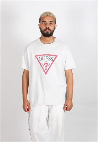 VINTAGE 1990'S GUESS JEANS USA T-SHIRT WHITE