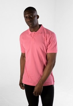 Essential Short Sleeve Collared Polo Shirt Top - Pink