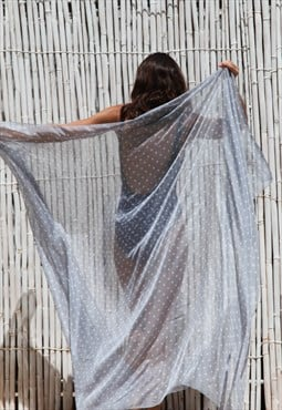 Silk polka dot pareo/shawl