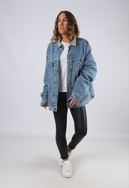 Denim Jacket LEE Lined Oversized Winter UK 18 - 20 (GK2N)