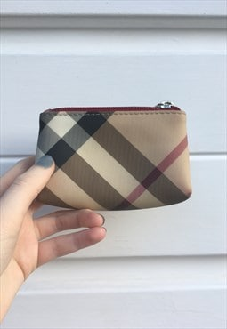 Womens Burberry purse beige super nova check coin purse
