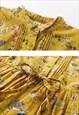 COTTON FLORAL DRESS MAXI DRESS