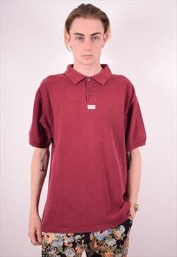 Levi's Mens Vintage Polo Shirt XXL Maroon 90s