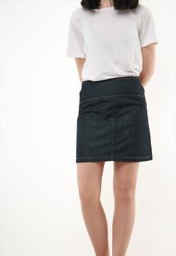 90s Vintage Ferre Mini Denim Skirt 717