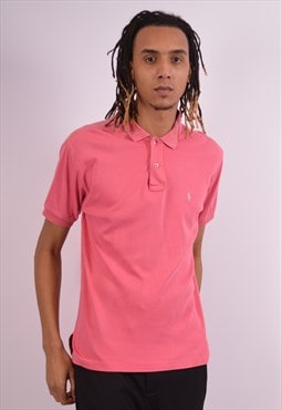 Polo Ralph Lauren Mens Vintage Polo Shirt Large Pink 90s
