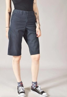 Vintage Dickies Slim Fit Chino Shorts Navy Blue