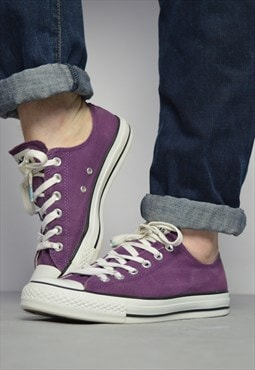 Vintage 90s Converse Purple Ox Shoes Retro Preppy Grunge