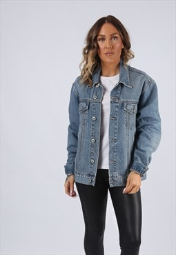 Denim Jacket Oversized Fitted GOOOD JEANS UK 14 (G95F)