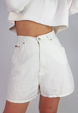 Vintage 80's 90's High Waist White Festival Shorts
