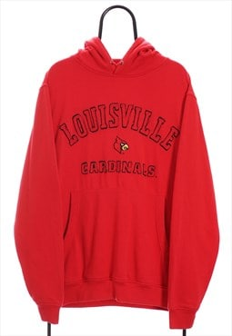 Vintage NCAA Louisville Cardinals Red Sport Hoodie