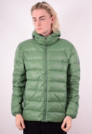 BEST COMPANY MENS VINTAGE PADDED JACKET LARGE GREEN 90S
