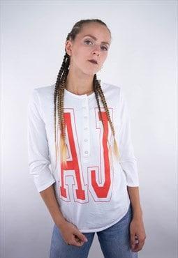 Vintage Armani big logo spellout AJ long longsleeve T-Shirt