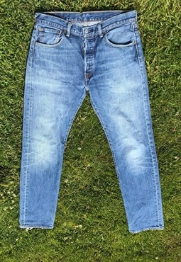 Vintage 501 Worn in Button Fly Levi Jeans