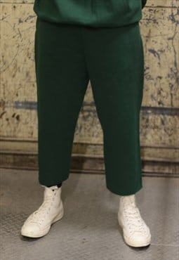 green 3/4 sweatpants