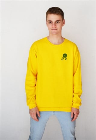 YELLOW SUNSET (GREEN) SWEATSHIRT