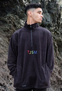 Block letter fleece (black)