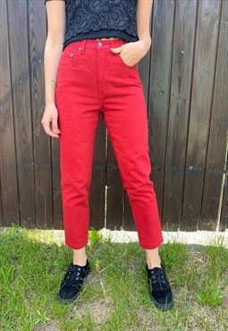 Vintage 90s Red Jeans