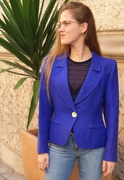 Vintage 90s classic short jacket by Yves Saint Laurent