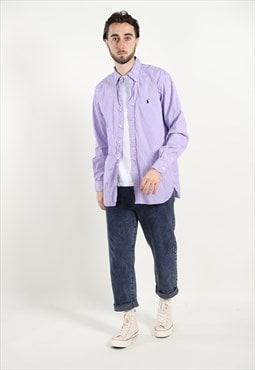 Vintage RALPH LAUREN Striped Shirt Purple