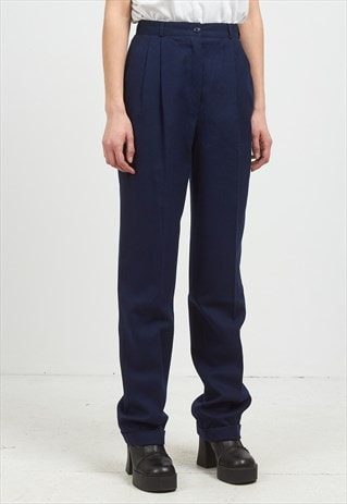 VINTAGE NAVY TROUSERS BOTTOMS