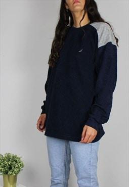 Vintage Nautica Fleece Sweatshirt w Logo Front