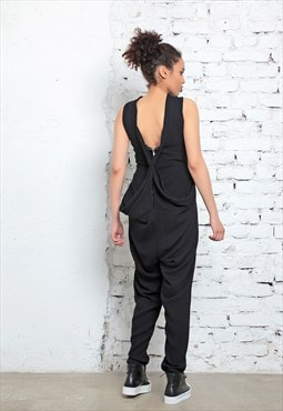 Minimalist Jumpsuit, Black Romper, Workout Clothing