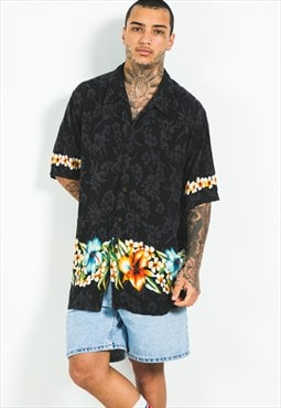 Vintage 80s Hawaiian Short Sleeve Shirt / S5173